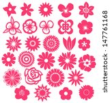 Stock vector set of vector flowers 147761168