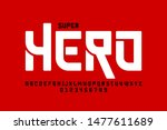 comics super hero style font ... | Shutterstock .eps vector #1477611689