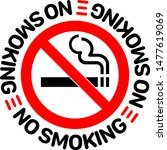 no smoking sign on white... | Shutterstock .eps vector #1477619069
