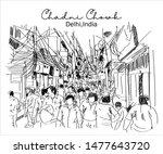 chadni chowk old delhi india... | Shutterstock .eps vector #1477643720