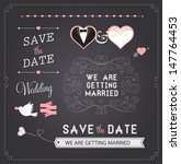 chalkboard style wedding design ... | Shutterstock .eps vector #147764453