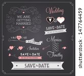 chalkboard style wedding design ... | Shutterstock .eps vector #147764459