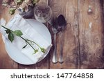 vintage table setting with... | Shutterstock . vector #147764858