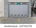 closed gray garage  door... | Shutterstock . vector #147765170