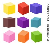 set of blank colorful toy... | Shutterstock .eps vector #1477653890