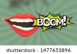 speech bubble with woman lips... | Shutterstock .eps vector #1477653896
