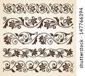 vector set of floral elements.... | Shutterstock .eps vector #147766394