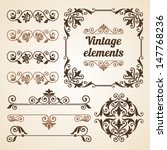 set of vintage ornate frames...   Shutterstock .eps vector #147768236