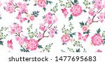 spring seamless pattern with... | Shutterstock .eps vector #1477695683