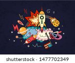 cartoon vector illustration of... | Shutterstock .eps vector #1477702349