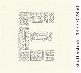 mono line style geometric font ... | Shutterstock . vector #1477702850