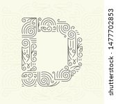 mono line style geometric font ... | Shutterstock . vector #1477702853