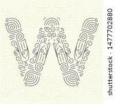 mono line style geometric font ... | Shutterstock . vector #1477702880