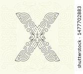 mono line style geometric font ... | Shutterstock . vector #1477702883