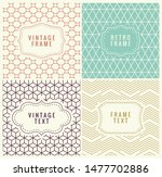 retro mono line frames with... | Shutterstock . vector #1477702886