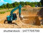 Excavators In The Work Process...