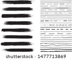 lines hand drawn paint brush... | Shutterstock .eps vector #1477713869