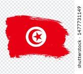 tunisian republic flag isolated....