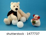 teddy bear with snowmen and... | Shutterstock . vector #1477737