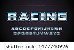 sports chrome typography...   Shutterstock .eps vector #1477740926