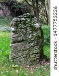 Ancient Standing Stone at Silverdale, Morecambe, UK