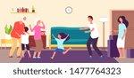 kids meet grandparents.... | Shutterstock .eps vector #1477764323