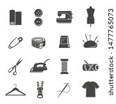 tailoring tools black and white ... | Shutterstock .eps vector #1477765073