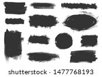 vector grunge elements. set of... | Shutterstock .eps vector #1477768193