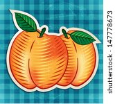Vector Vintage Peaches Sticker
