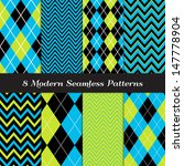 8 chevron and argyle patterns... | Shutterstock .eps vector #147778904
