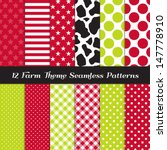 Farm Theme Seamless Pattern...