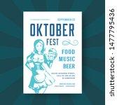 oktoberfest party flyer or... | Shutterstock .eps vector #1477795436