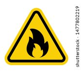warning attention sign with... | Shutterstock .eps vector #1477802219