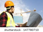 engineer builder wearing safety ... | Shutterstock . vector #147780710