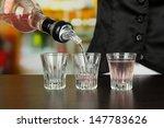 barmen hand with bottle ...   Shutterstock . vector #147783626