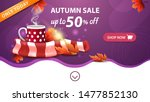 autumn sale  purple web banner...