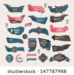set of retro ribbons and labels ... | Shutterstock .eps vector #147787988