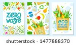 set of zero waste brochure... | Shutterstock .eps vector #1477888370
