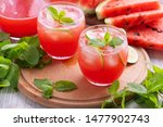 watermelon juice with mint and... | Shutterstock . vector #1477902743
