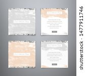 fashion collection cards. set...   Shutterstock .eps vector #1477911746