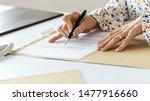 closeup view of businesswoman...   Shutterstock . vector #1477916660
