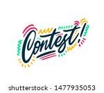 contest hand written word text... | Shutterstock .eps vector #1477935053