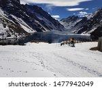 Inca Lake In Portillo   Chile