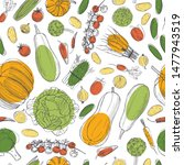 vector seamless pattern with ... | Shutterstock .eps vector #1477943519