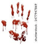 vector illustration of blood... | Shutterstock .eps vector #1477947869
