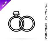 black line wedding rings icon... | Shutterstock .eps vector #1477969763