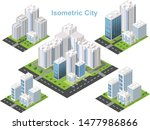 isometric buildings. city... | Shutterstock .eps vector #1477986866