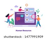 human resources and recruitment ...   Shutterstock .eps vector #1477991909