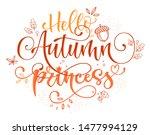 Hello Autumn Princess Quote....