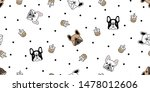 dog seamless pattern french... | Shutterstock .eps vector #1478012606